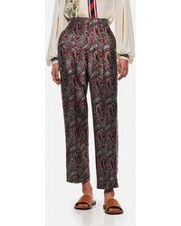 Golden Goose Deluxe Brand Sally Paisley-print Straight-leg Pants - Red