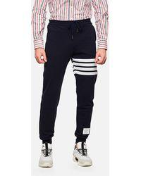 Thom Browne - Pantaloni felpati con logo - Lyst