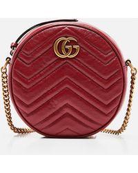 Gucci - Gg Marmont Mini Round Shoulder Bag - Lyst
