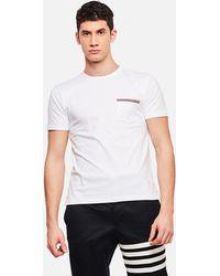 Thom Browne - T-shirt in jersey di cotone - Lyst