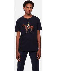 Ralph Lauren Horse Embroidery T-shirt - Blue