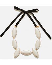 JW Anderson Collana con perle - Bianco
