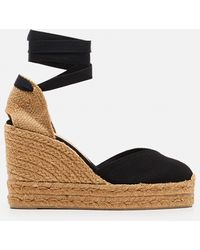 Castaner Chiara Canvas Espadrille With Wedge Of 11cm - Natural