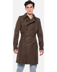 Alexander McQueen Cotton Trench Coat - Brown