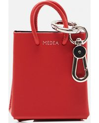 MEDEA Portachiavi a forma di borsa tote - Rosso