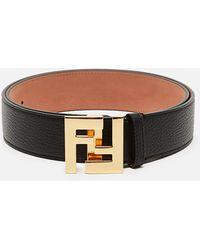 Fendi Roman Leather Belt - Black