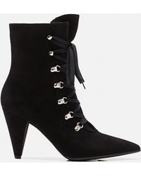 Gianvito Rossi - L Ace-up Ankle Boots - Lyst