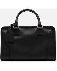 Loewe Amazona Bag In Calfskin - Black