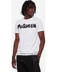 Alexander McQueen Graffiti Logo Jersey T-shirt - White