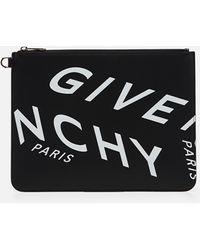 Givenchy Pochette con stampa - Nero