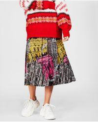 MSGM - Midi-skirt With Monumental Print - Lyst
