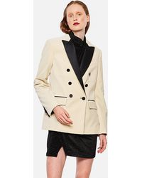 Redemption Double Breasted Blazer - Natural