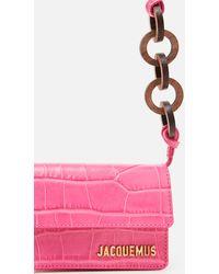 Jacquemus Minibag con manico ad anello Le petit Riviera - Rosa