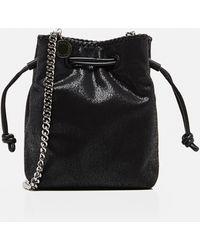 Stella McCartney Falabella Micro Tote Bucket Bag - Black