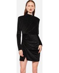 Redemption Short Dress With High Collar - Black