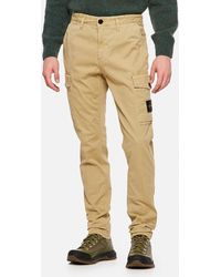 Stone Island - Cotton Twill Slim Cargo Pants - Lyst