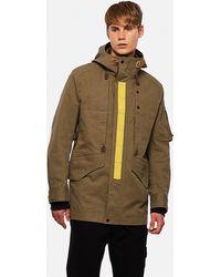 Junya Watanabe Cotton Coat With Adjustable Hood - Green