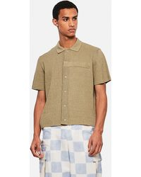 Jacquemus La Chemise Maille Knitted Polo Shirt - Natural