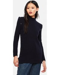 Marni Jumper With Side Slit - Blue