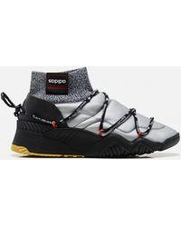 Alexander Wang Silver And Black Puff High-top Sneakers - Metallic