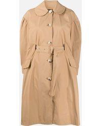 Simone Rocha Tan Brown Belted Waist Coat - Natural