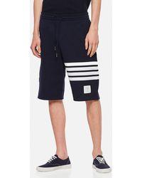 Thom Browne Engineered 4-bar Jersey Sweat Shorts - Blue