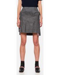 Thom Browne Pleated Miniskirt - Grey