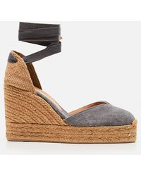 Castañer Chiara Canvas Espadrille With Wedge Of 11cm - Brown