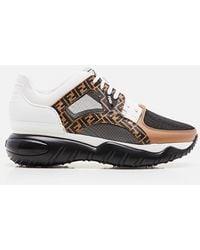 Fendi Chunky Monogram Runner Sneakers - Brown