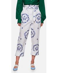 Simone Rocha Pants With Flower Embroidery - White