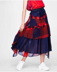 Sacai - Patchwork Skirt - Lyst
