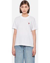 AMI - Ami De Coeur Cotton T-shirt - Lyst