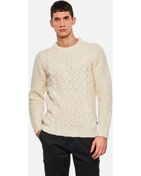 Woolrich Cable Knit Pullover - White