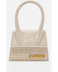 Jacquemus Le Chiquito Medium Linen Top Handle Bag - Natural