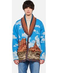 Alanui The Monument Valley Cashmere Cardigan - Blue