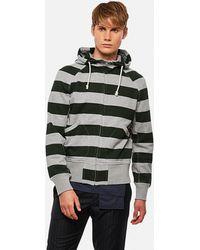 Junya Watanabe Sweatshirt With Striped Print - Gray