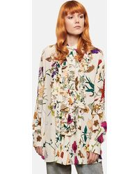 Gucci Floral Print Shirt - Natural