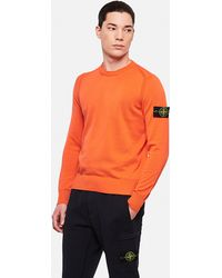 Stone Island Sweater Men - Orange