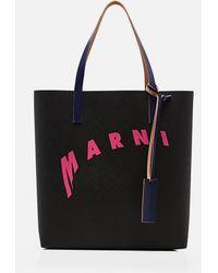Marni Shopping bag in cellulosa - Nero