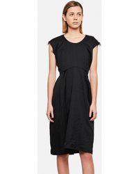 Comme des Garçons Wool Mid-length Dress - Black