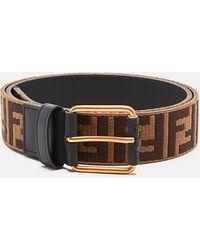 a basso prezzo 54612 29007 Cintura con logo doppia F - Marrone