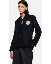Golden Goose Deluxe Brand Aria Blazer With Application - Blue