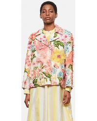 Péro Double-breasted Blazer With Embroidery - Pink