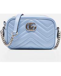 Gucci GG Marmont Mini Bag - Blue