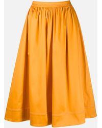 Sies Marjan Flared Eliza Midi Skirt - Yellow