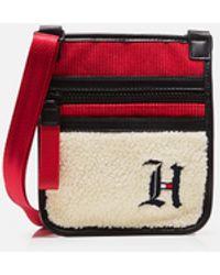 Tommy Hilfiger Lewis Hamilton Shoulder Bag With Sherpa Section - Red
