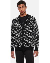 Givenchy Cardigan jacquard in lana - Nero