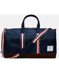 Thom Browne - Suede Trimmed Canvas Holdall - Lyst