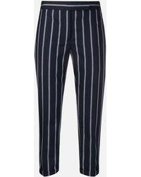 Thom Browne Slim Striped Pants - Blue