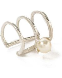 Bing Bang - Delicate Caged Pearl Ear Cuff - Lyst